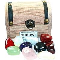 budawi® - Edelstein Schatzkiste mit 10 Trommelstein, Katzenauge, Rosenquarz, Jade, Opalglas... preisvergleich bei billige-tabletten.eu