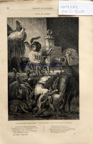 MAGASIN PITTORESQUE du 01/04/1865 - LE VENDREDI SAINT DANS LES VOSGES PAR TH. SCHULER BOUTIQUE DE CORDONNIER SOUS LOUIS XIII PAR ABRAHAM BOSSE - DESSIN DE BOCOURT