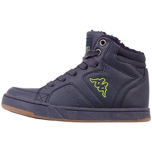 (Kappa Unisex-Kinder Nanook Kids Hohe Sneaker, Blau (Navy/Lime 6733), 33 EU)
