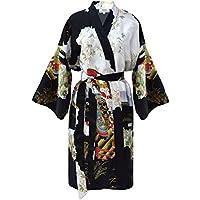 Kimono Mujer japonesa - bata corta elegante de satén