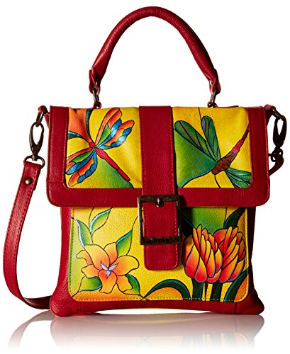 anuschka-handpainted-leather-8074-dgp-y-flap-saddle-bag-dragonfly-glass-painting-yellow-one-size