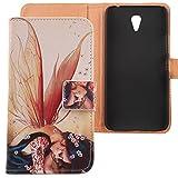 Lankashi PU Flip Leder Tasche Hülle Case Cover Schutz Handy Etui Skin Für Lenovo ZUK Z1 5.5