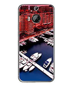 Fuson Designer Back Case Cover for HTC One M9 Plus :: HTC One M9+ :: HTC One M9+ Supreme Camera (Boat Water City Highrise Luxury Yatch)