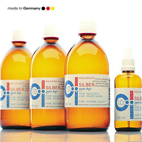 PureSilverH2O Kolloidales Silber 1600ml 10PPM (3 * 500ml) & Spray (100ml) Silberwasser 100% frisch & effektiv preisvergleich