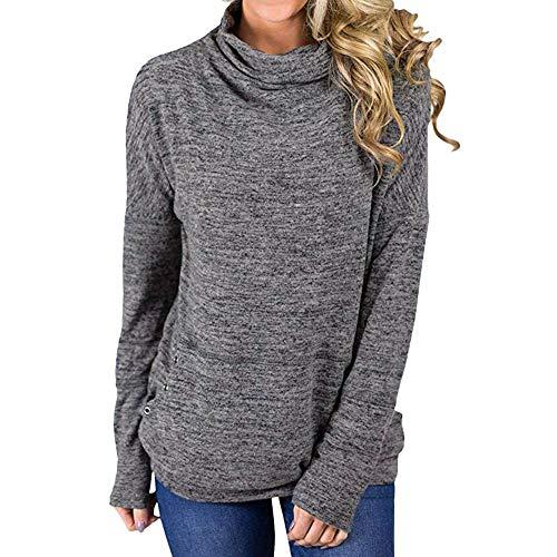 c8ff9227afddf Oliviavan,Frauen Cowl Neck Striped Langarm Kordelzug Pullover Sweatshirt  Taschen Niedlich Zerzauste.