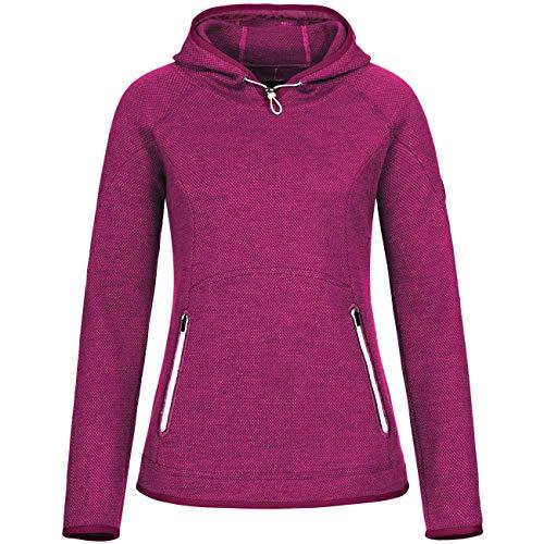 GIESSWEIN Walkpullover Sonja - Leichter Funktionssweater für Damen, Kapuzenpullover aus Merinowolle, Sportbekleidung für Frauen, Atmungsaktiv und geruchsneutralisierend