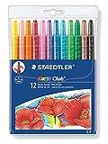 Staedtler Noris Club Wachs-Twister, Wachs-Malstifte, Set mit 12 brillante Farben, 221 NWP12