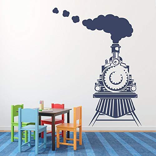 jiuyaomai Abnehmbare Wohnkultur Zug Wandtattoo Kinder Kinder Schlafzimmer Aufkleber Junge Wandaufkleber DIY Art Vinyl Wandbild 82x112 cm
