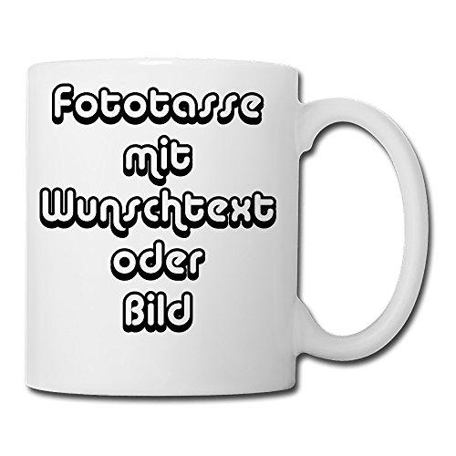 Fototasse selbst gestalten - Hochwertige Keramik-Tasse mit eigenem Spruch, Namen oder Foto