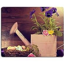 luxlady Gaming Mousepad imagen ID: 27124568 Retro Happy o de Pascua Springtime Scene Rosa con