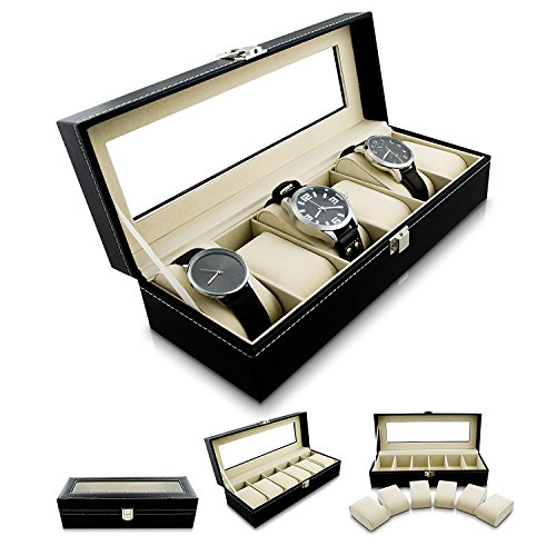 lanbow-6-slot-watch-box-for-men-with-glass-lid-leather-watch-holder-case