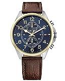 Tommy Hilfiger Herren Analog Quarz Uhr mit Leder Armband 1791275