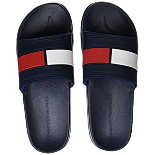 Tommy Hilfiger Flag Pool Slide, Men's Beach & Pool Shoes, Blue (Rwb 020), 9|10 UK (43/44 EU)