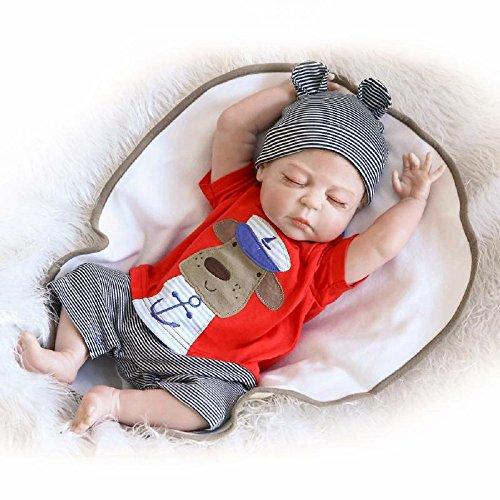 HOOMAI 22inch 55CM Reborn bebé realista muñeca niños Cuerpo completo vinilo suave silicona rel reborn baby doll pequeños Magnetismo Juguetes boy recien nacidos ojos abiertos