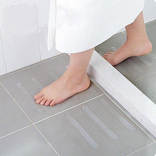 Selbstklebend Wasserfest PEVA Antirutschband, Antislip Sicherheitsband, Rutschschutz für Bad Dusche Treppen Teppich Beläge, Baby/älteren /Pet Sicherheit (Weiß) ()