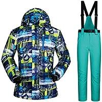 Jiuyizhe Conjunto de Chaquetas y Pantalones de esquí de Invierno para Hombre al Aire Libre para Hombres (Color : 06, Size : L)