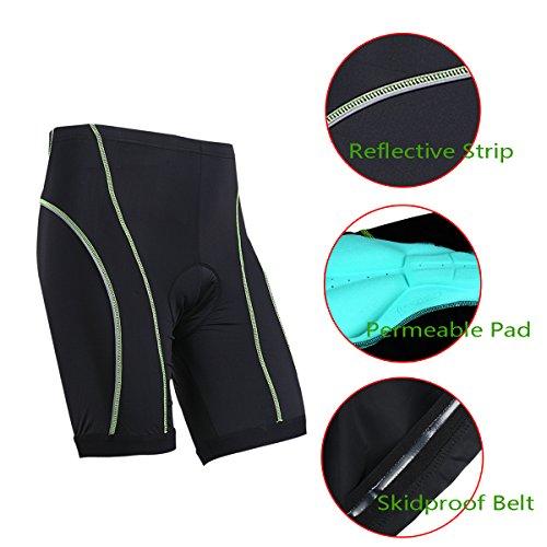 Pantalones Cortos de ciclismo con Acolchado 3D de Gel Coolmax para hombres (XL) de Xcellent Global