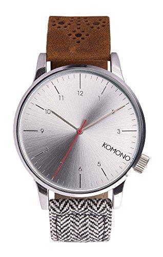 komono-winston-galore-walnut-herringbone-horloge-kom-w2201