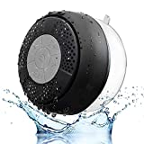 SEGURO Water Resistant Wireless Bluetooth Stereo Shower Speaker Waterproof with Suction (Bluetooth 3.0, Hands-Free, Built-in Mic, A2DP/AVRCP), Best for Birthday Gift