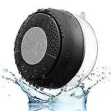 SEGURO Wasserfester Bluetooth-Stereo-Dusch-Lautsprecher, wasserdicht, mit Saugnapf (Bluetooth 3.0, Freisprecheinrichtung, integriertes Mikrofon, A2DP/AVRCP)
