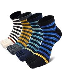 Calcetines con cinco 5 dedos hombre, calcetines antideslizantes, cinco calcetines de los dedos,
