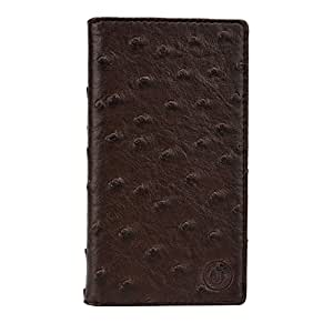 J Cover Croc Series Cover Leather Pouch Flip Case For BQ Aquaris E5 HD Ubuntu Edition Brown