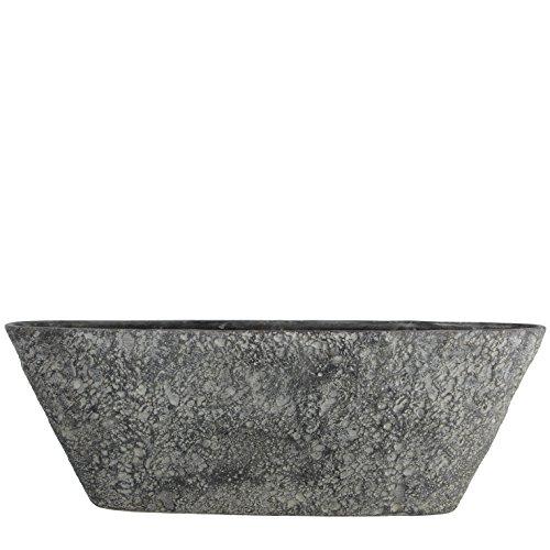 Mica Decorations 119651 Pot Oval Milou L67l16.5h23 Gris F