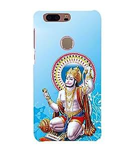 FUSON Hindu Lod Hanuman Ramjap 3D Hard Polycarbonate Designer Back Case Cover for Huawei Honor 8