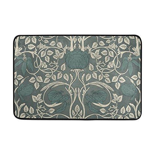 pich / Fußmatte, mit William-Morris-Design, waschbar, für Garten / Büro / Küche / Wohnzimmer, mit rutschfester Unterseite, 59,9x 39,9cm ()