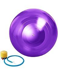 ZUOAO Pelota para Yoga Anti explosión -65cm - Balón de Ejercicio Espesado - Ball de Equilibrio Antideslizante - Pelota de gimnasia, Yoga, Pilates y masaje - Bomba de Pie Incluido