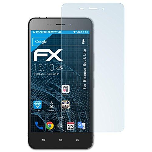 atFolix Schutzfolie kompatibel mit Hisense Rock Lite Folie, ultraklare FX Bildschirmschutzfolie (3X)