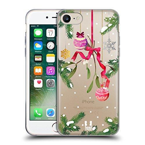 Head Case Designs Gui Ornements De Noël Étui Coque en Gel molle pour Apple iPhone 5 / 5s / SE Gui