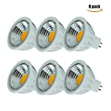 Uplight GU5.3 LED Lampen Pack von 6 nicht dimmbare 5.5W RA95 90 Grad 550LM 4000K 60 W Halogen