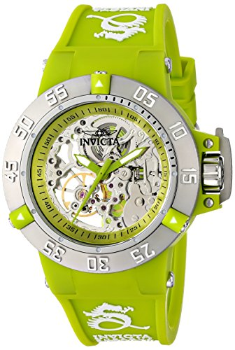 Invicta Women's Subaqua Mechanical Watch with Multicolour Dial Analogue Display and Green PU Strap 16779