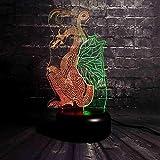 MCJDF Dinosauro del drago di volo del taglio della carta classica cinese Doppio-misto-colorato incredibile 7 colori dimagranti gradiente Drago antico arte lampada a distanza