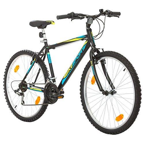 Bikesport ACTIVE 26 Zoll Herren Fahrrad MTB Mountainbike Hardtail Jungen-Fahrrad Shimano 18 Gang + Fahrrad-Licht-Set Geschenk