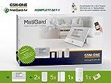 GSM Alarmanlage MatiGard Air von GSM-One, KOMPLETTPAKET 1, mit Extra Sensoren und Prepaid SIM-Karte