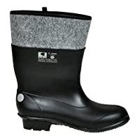 Lukpol Mens Work Rain Boots Waterproof Wellingtons MF/900 (Black, UK 10 / EUR 45)