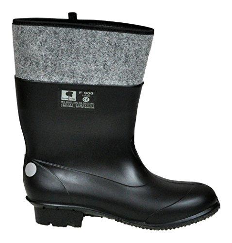 Lukpol Black Mens Wellies Work Boots Waterproof Garden Farming Wellingtons UK Size 6/7/8/9/10/11 Model-F/900
