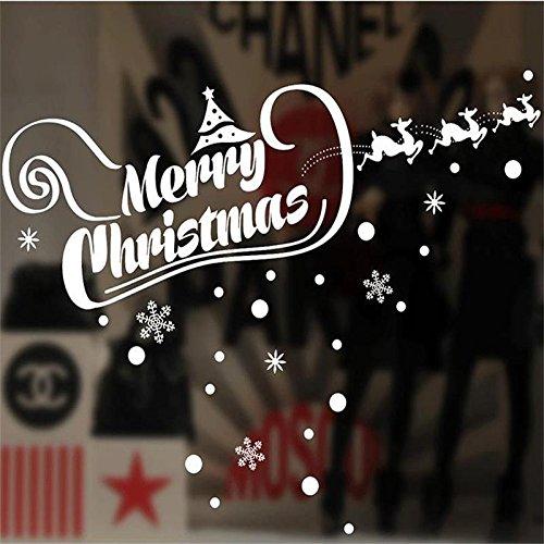 ster Glas Pvc Wall Sticker Frohe Weihnachten Zitat Wand Aufkleber Startseite Aufkleber Weihnachten Dekoration Für Zu Hause Versorgt (Neue Jahre Versorgt)