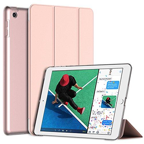 JETech Funda para Nuevo iPad (9,7 pulgadas 2018 / 2017 Modelo), Carcasa con Soporte Función, Auto-Sueño / Estela, Oro Rosa