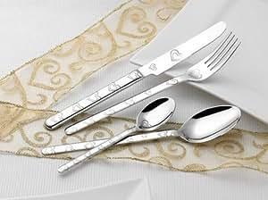 Coeur - 20 Supports Esmeyer BETTINA-Service à Couverts-Inox 18/10 poli avec Double Cœur gravé au laser 250–121 Coffret cadeau