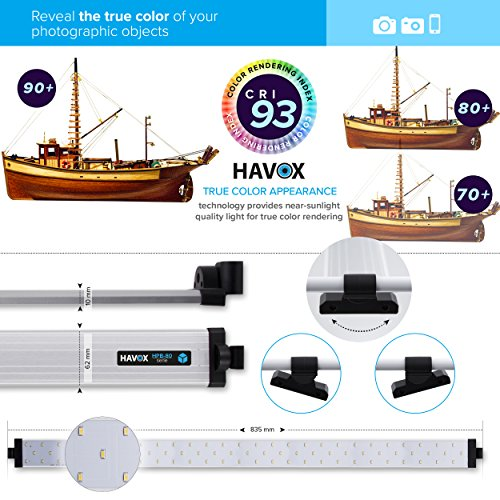 HAVOX - Photo Studio HPB-80XD - Dimension 80x80x80cm - 4 Dimmable LED Strips