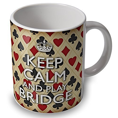 verytea Bridge, Motiv Keep Calm and Play Bridge Becher/Tasse, tolles Geschenk
