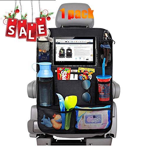 hutz, EFULL- 1 Stück Auto Rücksitz Organizer für Kinder, 9 Aufbewahrungstaschen und iPad-/Tablet-Fach, Wasserdicht Autositzschoner, Kick-Matten-Schutz für Autositz ()