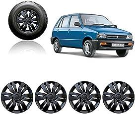 Auto Pearl 12-inch Black Wheel Cover Cap for Maruti Suzuki 800 (Set of 4)
