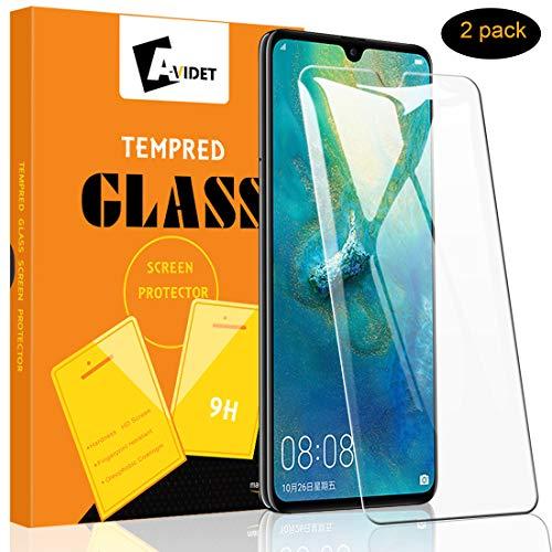 A-VIDET Schutzfolie für Huawei Mate 20 Vollschutz-mit Ultra-Stärke Ultra-klare Transparenz Schutzfolie Bildschirmfolie für Huawei Mate 20 (2 Stück)