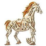 UGEARS Cavallo Puzzle 3D per Adulti Modellino Meccanico in Legno, Rompicapo da Costruire, Kit Completo per Adulti e Bambini, Si Muove Davvero, Gioco Educativo ed Ecologico