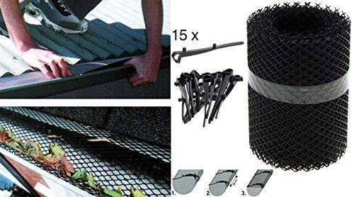 Dachrinnenschutz 6 Meter - Dachrinnengitter Laubschutz Rinnenschutz