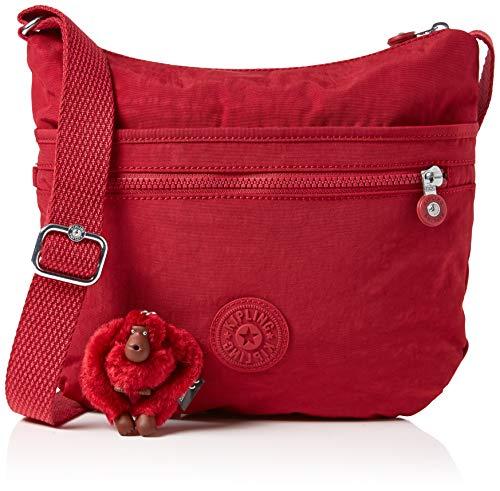 Kipling Arto, Sacs bandoulière femme, Rouge (Radiant Red C), 4x29x26 cm (B x H T)